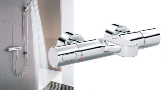 Mitigeur thermostatique pour colonne de douche